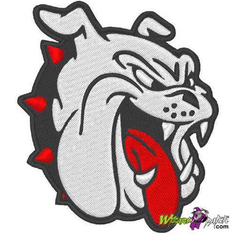 mad dog bulldog wizard embroidered patch biker