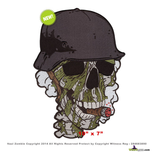 WWII SOLDIER ZOMBIE LARGE BACKPATCH