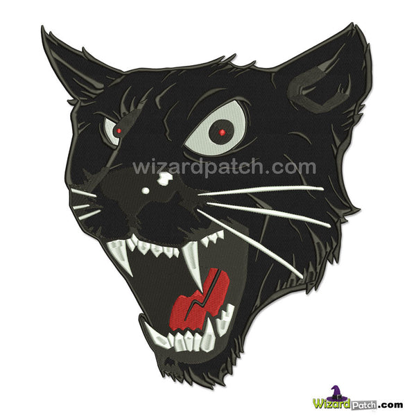 new black panther 11 inch embroidered biker patch by wizard patch