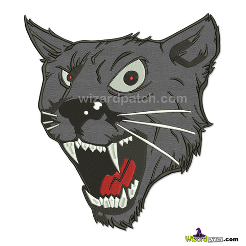new deep grey panther 11 inch embroidered biker patch by wizard patch