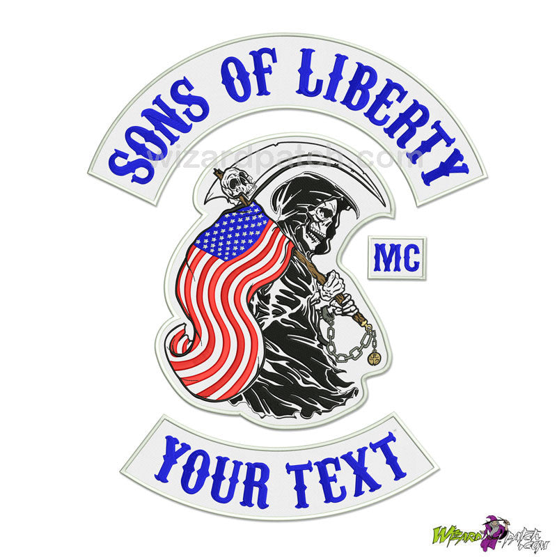 SONS OF LIBERTY ANARCHY REAPER© 4PC FULL BACK SET