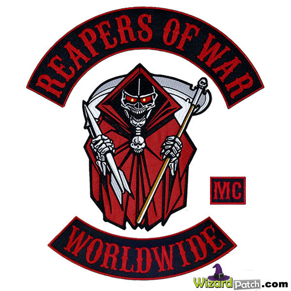 REAPERS OF WAR MC BIKER PATCH SET