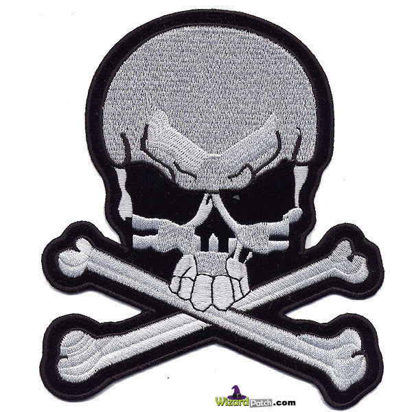"*NEW* SKULL & BONES LARGE 8"" BACKPATCH"