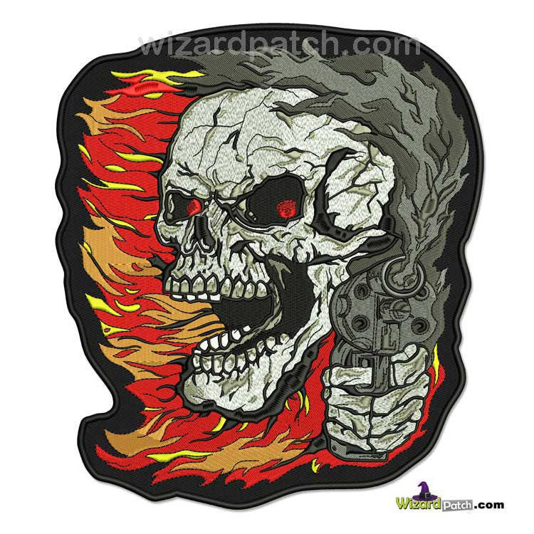 SMOKIN GUN OUTLAW LARGE FULLY EMBROIDERED BACK PATCH