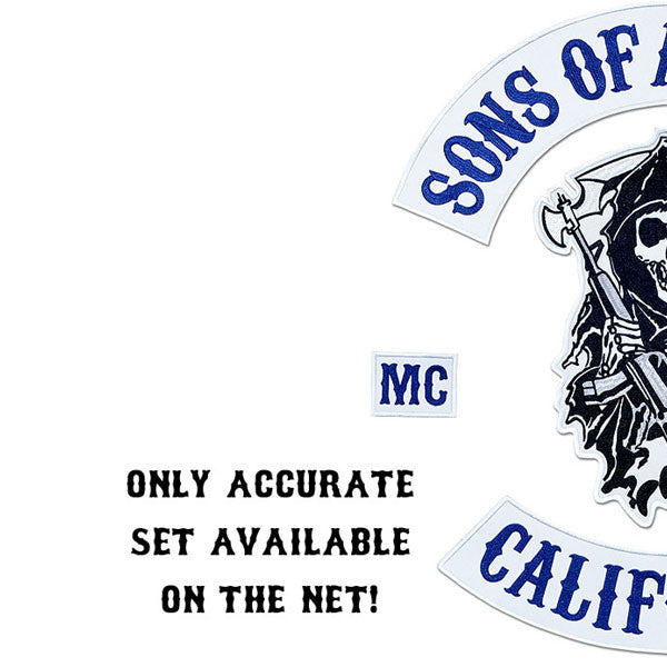 MAYAN BEST FULL VEST PATCH SET AVAILABLE, BEST EMBROIDERY GUARANTEED, SONS OF ANARCHY patches