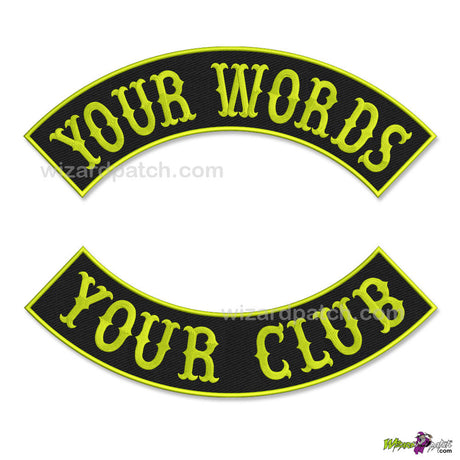 TOP AND BOTTOM ROCKERS, MAKE YOUR OWN PATCHES, CHOOSE YOUR OWN PATCH SET! MAKE YOUR OWN MC CUT.