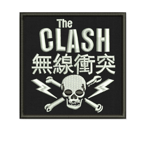 the clash music band embroidered patch