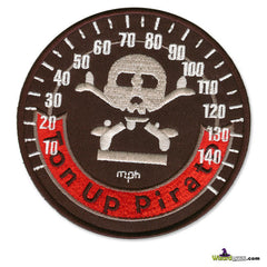 TON UP PIRATE SPEEDO DISC EMBROIDERED PATCH 4