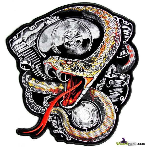 AMERICAN V-TWIN & SNAKE BIKER PATCH