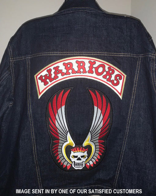 THE WARRIORS MOVIE EMBROIDERED FULL ACCURATE LARGE SIZE VEST PATCHES - SCREEN ACCUARTE