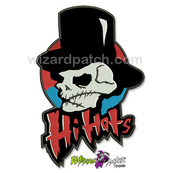 warriors movie hi hats gang large embroidered backpatch wizard patch