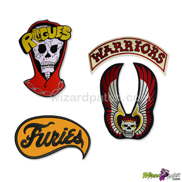 warriors movie triple set rogues furies full size gang large embroidered backpatch wizard patch