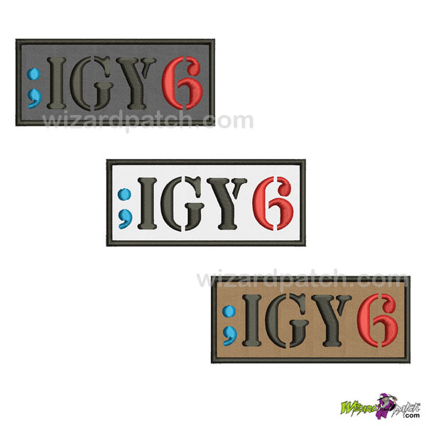 wizard IGY6 I GOT YOUR 6 EMBROIDERED PATCH NOVELTY BADGE USA MILITARY STYLE INSIGNIA YOUR COLOR CHOICE