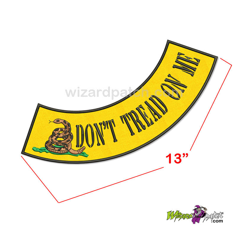 wizard patch DONT TREAD ON ME SIDE ROCKER EMBROIDERED biker patch black