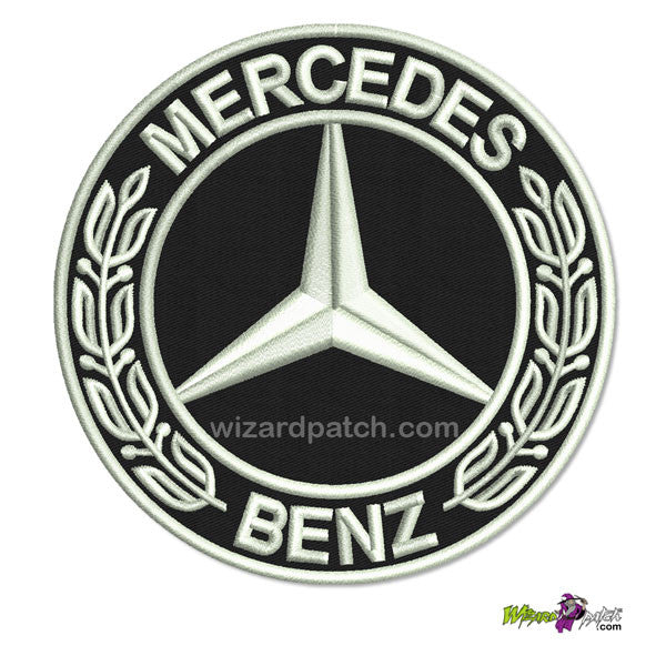 wizard patch MERCEDES BENZ BADGE EMBROIDERED DISC patch