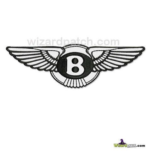 WIZARD PATCH BENTLEY MOTOR COMPANY EMBROIDERED WINGS BADGES FOR IRON OR SEW ON APPLICATION