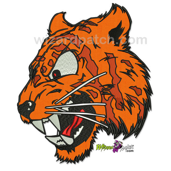 wizard patch large tiger EMBROIDERED biker back patch