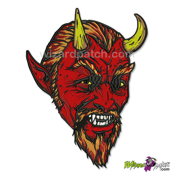 WIZARD PATCH SATAN'S DEVILS REJECT LARGE 10 INCH EMBROIDERED BIKER BACK PATCH