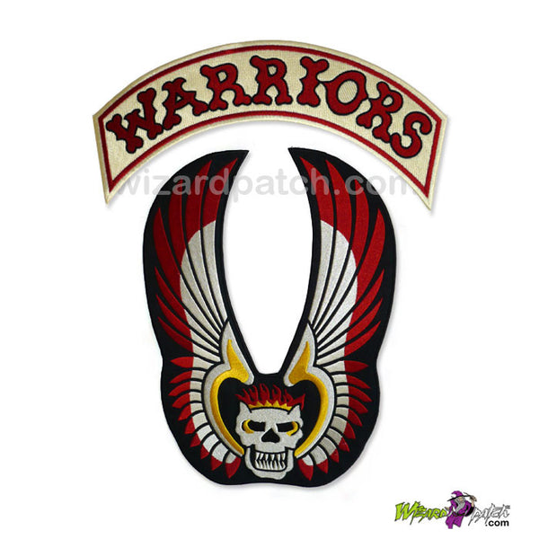 wizard patch the warriors 12 inch full size embroidered back patch movie prop best quality