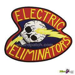 wizard patch warriors electric eliminators 10 inch full size embroidered back patch movie prop best quality