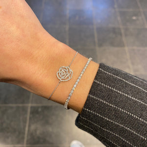 Bracelet Or blanc et Diamants - LA ROSE