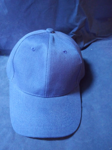 6 Panel Blank Baseball Cap with Velcro Closure - Royal Blue