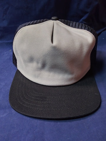 Blue and Grey Snapback Trucker Hat