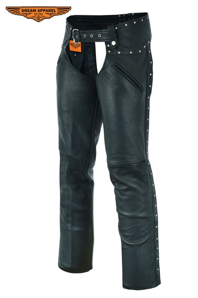 Ladies Naked Leather Chaps Studded