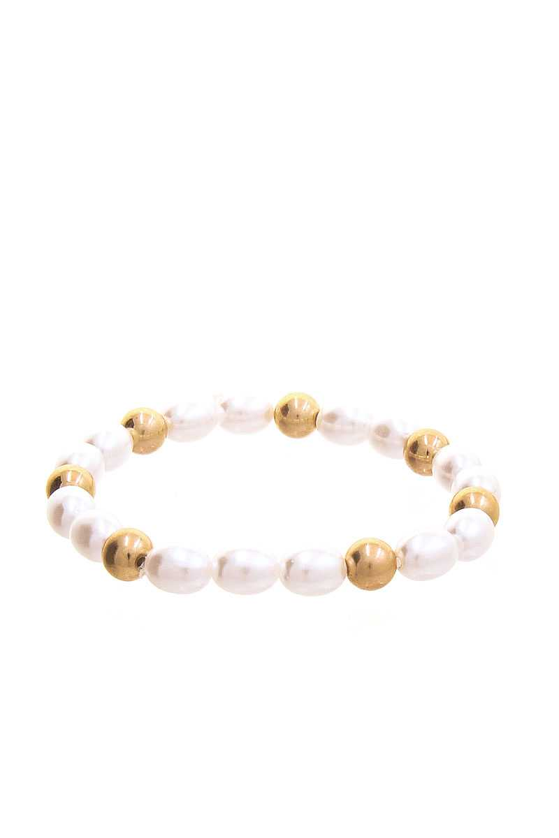 Chic Fresh Water Pearl And Bead Bracelet