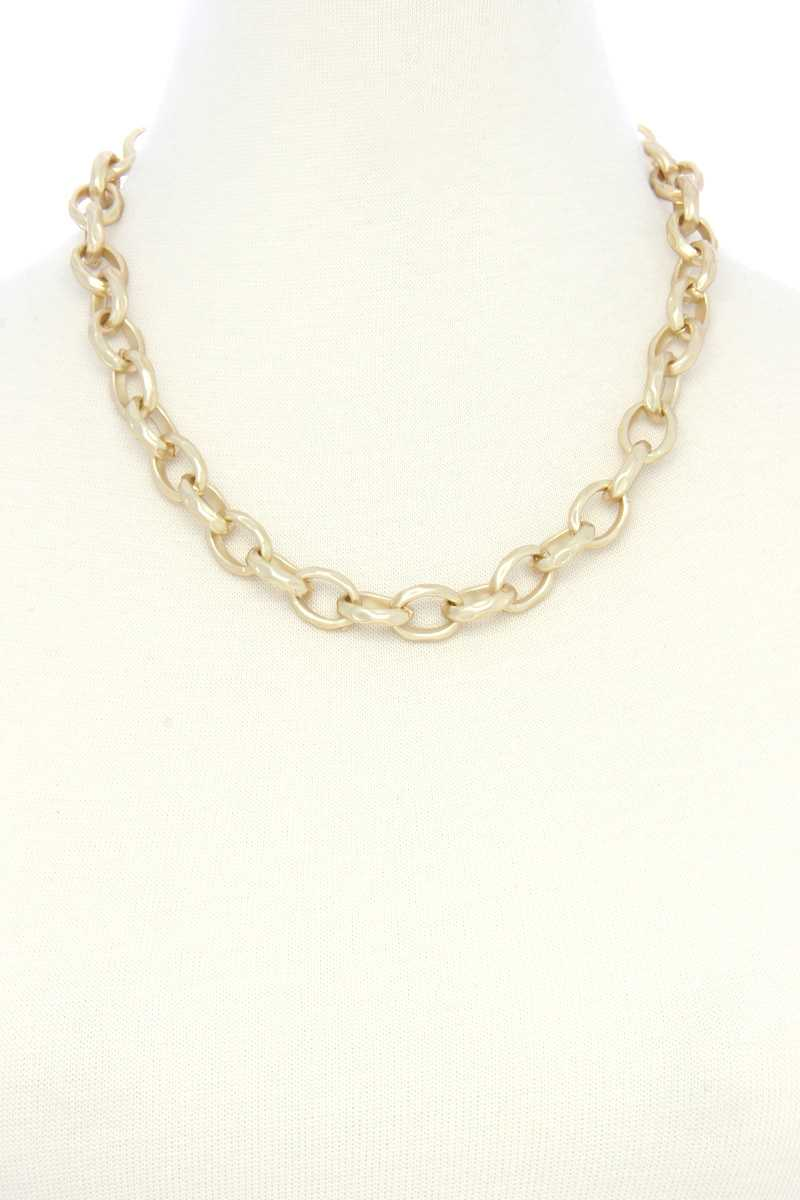 Circle Link Metal Necklacecircle Link Metal Necklace