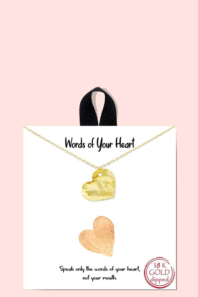 18k Gold Rhodium Dipped Words Of Your Heart Necklace