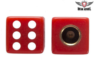Two Red Dice Tire Valve Stem Caps