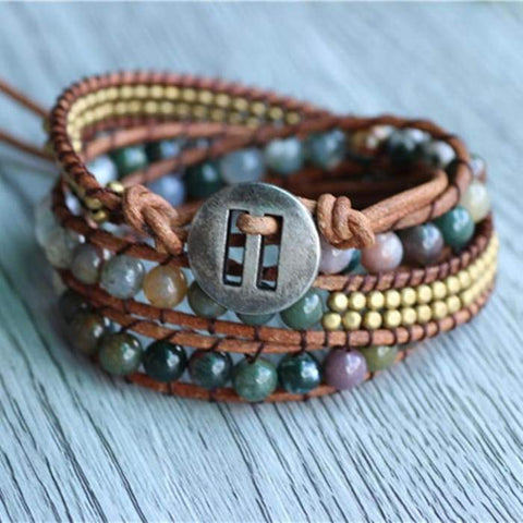 "Wrap Bracelet ""Light Energy"" Agata indiana"
