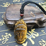 """Testa di Buddha"" Collana Tiger Eye"