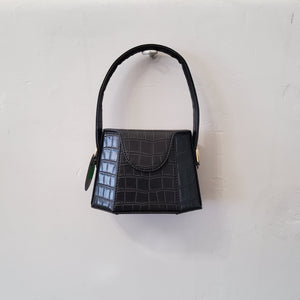 Faux Croc small handbag