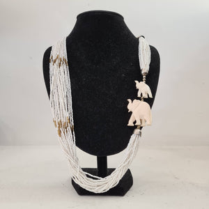 Beaded Necklace with Bone