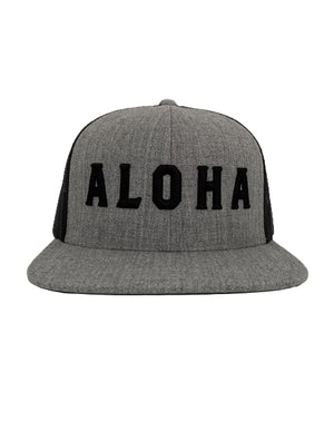 Aloha Block Heather Grey Snapback
