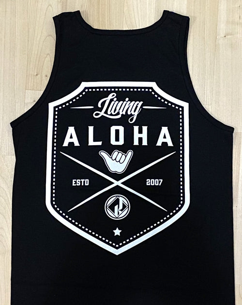 Aloha Shield Black Tank Top