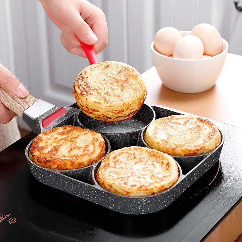 Wholesale Four-hole Omelet Pan For Eggs Ham Steak Frying Pans