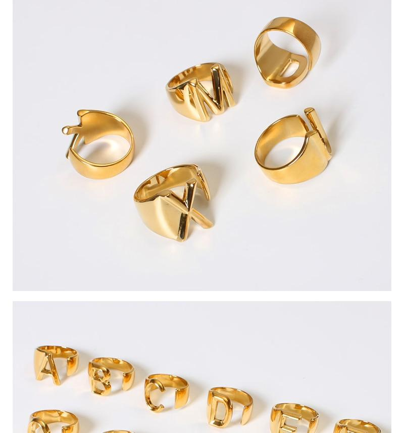 Letter Ring in Gold