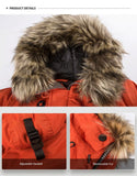 Arctic Parka mit Pelzkapuze in Orange