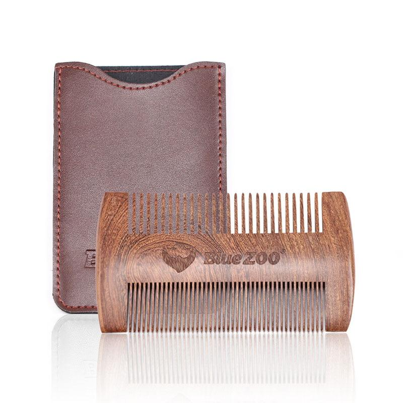 Double-sided Beard Comb With Leather Bag