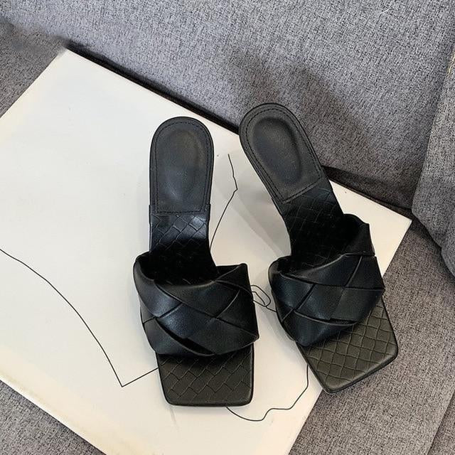 Square Toe Heel Sandals