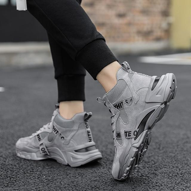Trainers in Grey with Chunky Sole