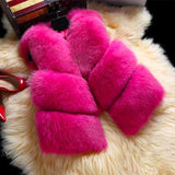 Thick Faux Fox Fur Vest