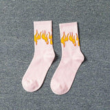 Color On Fire Crew Socks