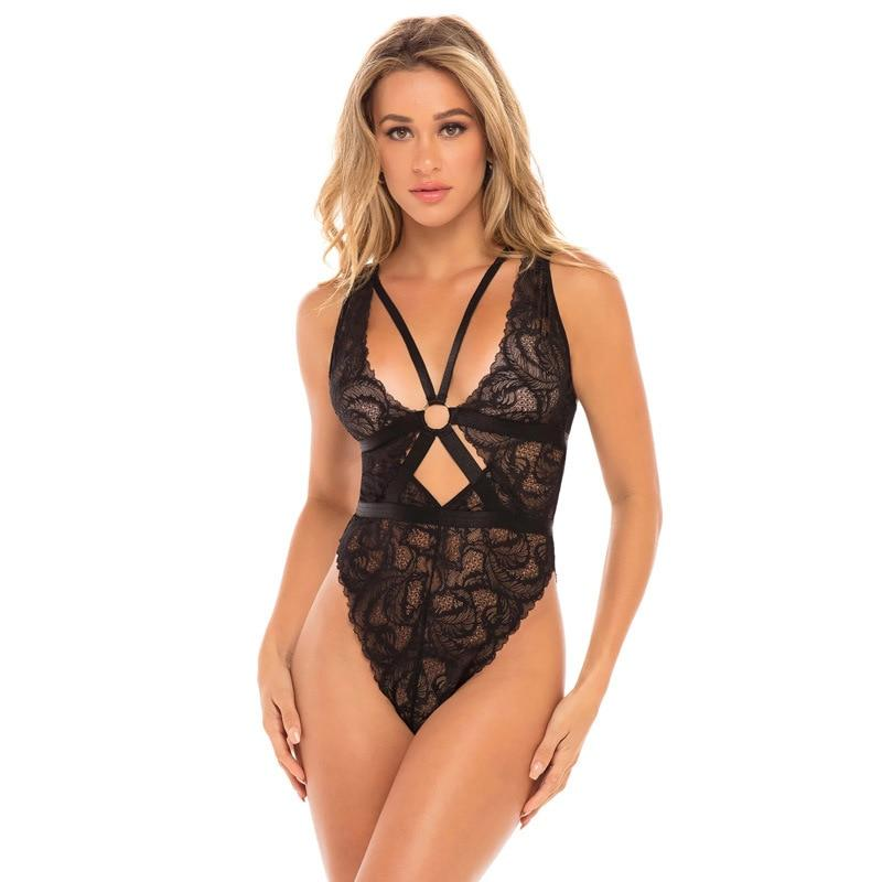 Black Bodysuit in Lace