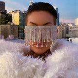 Oversized Luxury Tassel Decorated Sunglasses