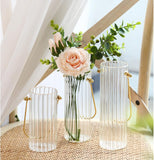 Transparent Vertical Glass Vase