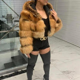 Real Silver Gold Fox Fur Coats